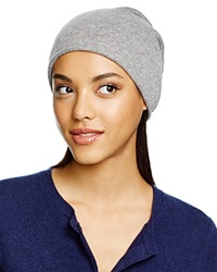 C By Bloomingdale's Cashmere Angelina Slouch Hat Pale Gray