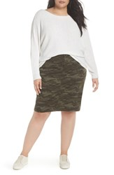 Caslon Plus Size Horizontal Pullover Sweater Ivory Cloud