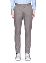 Lanvin Braided Stripe Cotton Chinos Grey