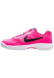 Nike Performance Court Lite Cly Outdoor Tennis Shoes Pink Blast Black