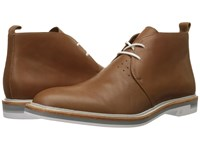 Calvin Klein Jonas Bark Leather Men's Lace Up Boots Brown