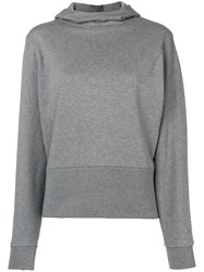 Closed Hooded Fitted Sweater Grey