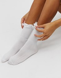 Gipsy Frill Ankle Sock In White