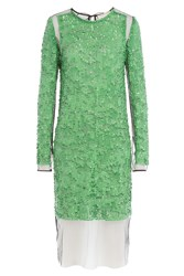Emilio Pucci Sequin Dress With Tulle Green