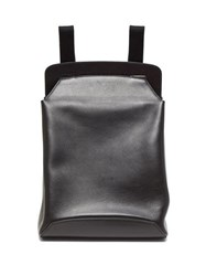 The Row Moulded Leather Backpack Black