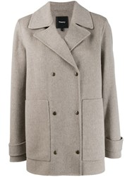 Theory Military Peacoat Grey