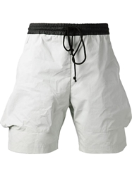 Lost And Found Dart Pocket Shorts Grey