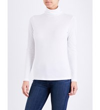Sunspel Turtleneck Cotton Jersey Top White