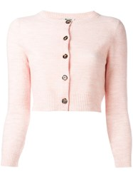 Acne Studios Cropped Cardigan Pink Purple