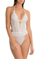 In Bloom By Jonquil 'S Lace Bodysuit Ivory Blue