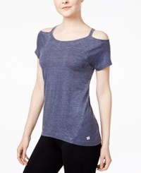 Tommy Hilfiger Sport Cold Shoulder T Shirt A Macy's Exclusive Midnight