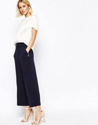 Gestuz Tailored Cropped Pants Navy