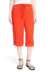 Foundrae Crop Pants Red