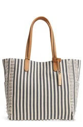 Vince Camuto Iona Canvas Tote Blue Navy Natural Multi