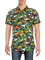 American Stitch Multicolored Camo Print Polo Shirt Camo Multi