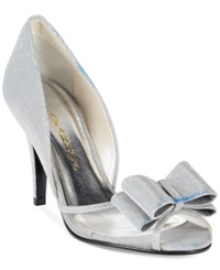 Caparros Shawna Two Piece Evening Pumps Women's Shoes Silver Glimmer