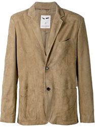 Michael Bastian Distressed Blazer Nude And Neutrals