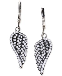 King Baby Studio Pave Wing Drop Earrings In Sterling Silver