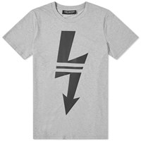 Neil Barrett Lightning Bolt Sport Tee Grey