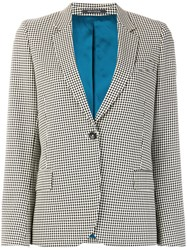 Paul Smith Ps By Single Breasted Vichy Blazer Cotton Viscose Black