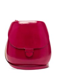 Lemaire Cartridge Leather Cross Body Bag Red