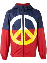 Love Moschino Peace Sign Jacket Red