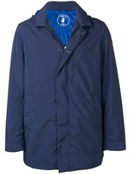Save The Duck Hooded Parka Coat Blue