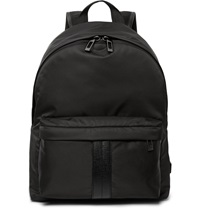 Tod's Leather Trimmed Shell Backpack Black