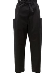 Maison Rabih Kayrouz Side Pockets Belted Trousers Black