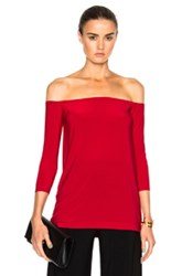 Norma Kamali Off The Shoulder Top In Red