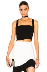 Thierry Mugler Technical Cady Top In Black