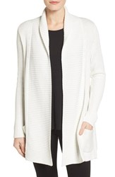 Chaus Women's Two Pocket Cotton Blend Cardigan Winter White
