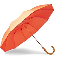 London Undercover Bamboo Handle Umbrella Orange