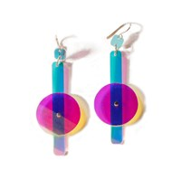 No 13 Let There Be Light Earrings 1 Blue Pink Purple