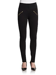 Dex Asymmetrical Seamed Jersey Leggings Black