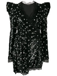 Amen Sequined Mini Dress Black