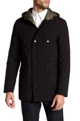 Kenneth Cole Front Zip Hooded Jacket Black