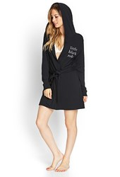 Forever 21 Terrycloth Little Black Robe