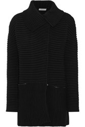 Bailey 44 Cornell Ribbed Cotton Blend Cardigan Black