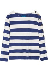 Mih Jeans M.I.H Striped Cotton Jersey Top Cream