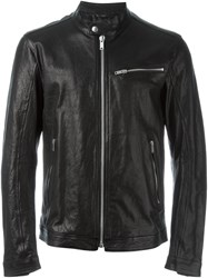 Dondup Leather Jacket Black