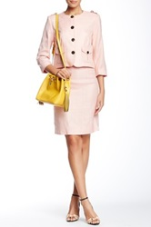 Orla Kiely Basket Weave Pencil Skirt Pink