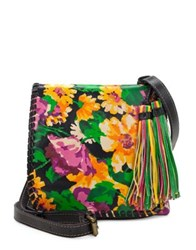 Patricia Nash Floral Leather Crossbody Bag Summer Eve