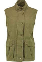 Current Elliott The Leisure Cotton Twill Vest Green