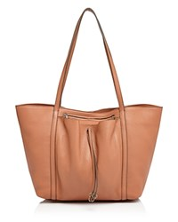 Etienne Aigner Ines Leather Tote Sandstone Tan Gold