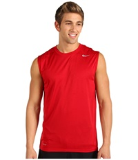 Nike Dri Fit Legend Sleeveless Training Shirt Gym Red Dark Grey Heather Matte Silver Men's Sleeveless