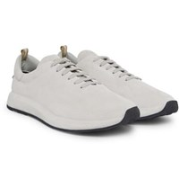 Officine Creative Race Suede Sneakers Light Gray