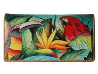 Anuschka 1095 Tropical Bliss Checkbook Wallet Multi