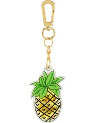Skinnydip Pineapple Liquid Key Charm Green