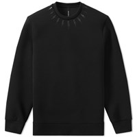 Neil Barrett Single Fair Isle Bolt Print Sweat Black